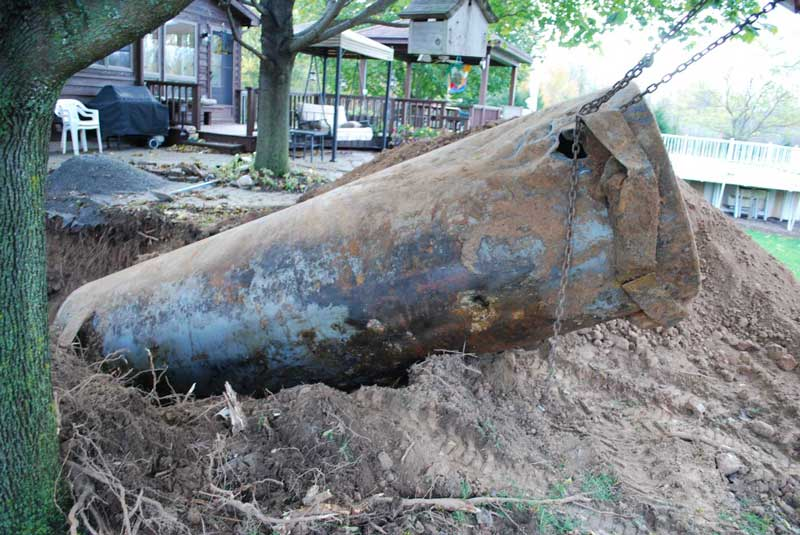 Oil Tank Demolition : Oil tank removal envirosafe inspections consulting